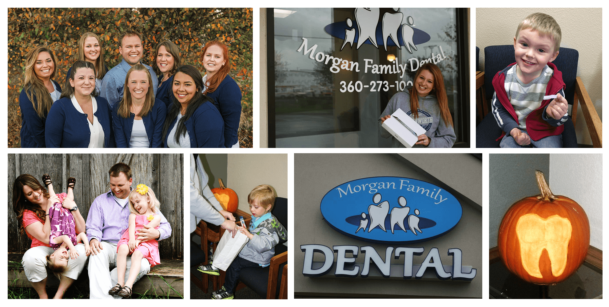 Many photos of the Morgan Family Dental team out in the community